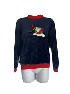 the wooden soldier velvet snowman sweater Youth Size 12