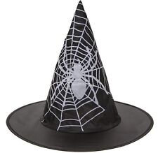 infantil tela de araña estampado Bruja Sombrero Disfraz Halloween 972002