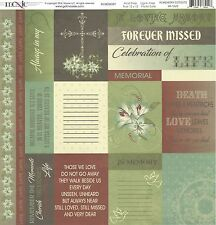 Moxxie - In Memory Cutouts Scrapbooking Paper 12x12 Funeral