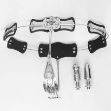 FEMALE Chastity Device Belt Stainless Steel Adjustable 60-130cm 2 PUGS