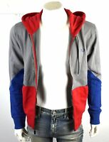 True Religion Men's Chevron Panel Zip Up Hoodie Sweatshirt - 101957