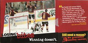 Chicago Wolves--2005-06 Season Ticket Brochure--Thrashers Affiliate
