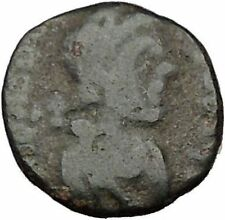 Honorius  395AD Ancient  Roman Coin Victoty Nike Chi-Rho Christ monogram i35799