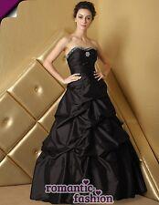 ♥ Taille 34,36,38,40,42,44,46,48,50,52,54,56 od.58 robe de soirée robe de bal noir +e468 ♥