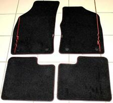Fiat 500 Sept 2012 > Luxury Velour Floor Carpet Mats Black RED Genuine 59137282
