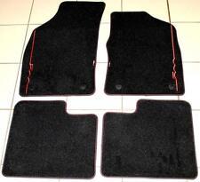 Fiat 500 Sept 2012 > Luxury Velour Floor Carpet Mats Black RED Genuine 59137282