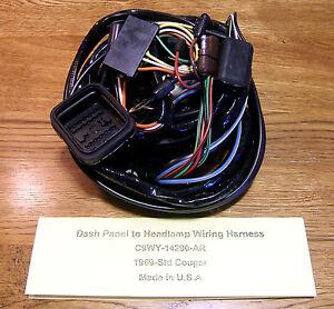 "C25) 1969 Mercury Cougar  ""Dash Panel to Headlight"" Wiring Harness     standard"