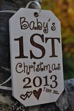 Baby's First Christmas Ornament, Personalized Christmas Ornament, Handmade