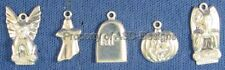 100pc S/S Plated Haunted Halloween Lot Charms 5663