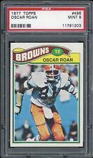 1977 Topps #496 Oscar Roan - Cleveland Browns PSA 9 MINT