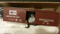Roundhouse MDC HO PRR Empire Line Old Time 36' Truss Rod Boxcar Kit, NIB