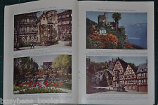 1933 magazine article about FREIBURG GERMANY, history, people etc, color photos