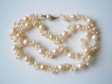 Alte aussergewöhnliche Perlen Kette mit 14 K/585 Gold Verschluß 40,7 g / 59 cm