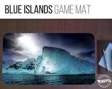 "Blue Island Land Game Mat - 12"" x 22"" Neoprene - MTG Magic Card Desk Mat"