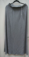 Dalia Collection Maxi Long Full Length Skirt Black/White - Medium