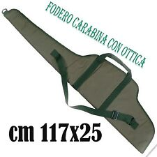 fodero per carabina custodia imbottita con porta ottica di precisione fucile