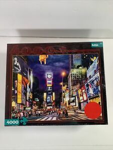 New Factory Sealed Times Square New York Buffalo Games Jigsaw Puzzle 4000 Pieces