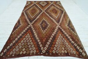 """Anatolian Kilim Rug Floor Rug Tribal Rug Dining Room Carpet 75""""x125,5"""" Area Rugs"""