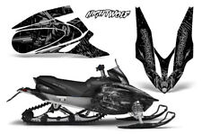 Yamaha APEX XTX Decal Wrap Graphic Kit Sled Snowmobile 2006-2011 NIGHTWOLF SLVR