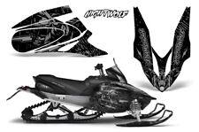 Yamaha APEX XTX Decal Wrap Graphic Kit Sled Snowmobile 2006-2011 NIGHTWOLF SLVR
