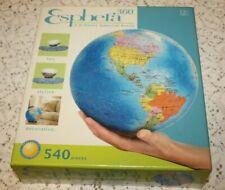"""Rose Art Esphera 360 Plastic Spherical Puzzle 3D Earth 9"""" Globe 540 Pieces"""