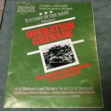 Operation Grenade Game Strategy & Tactics Magazine #84 PUNCHED Avalon Hill SPI