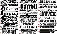 Logo porte voiture pile sponsor logo logos graphisme voiture autocollant decals vw jmd