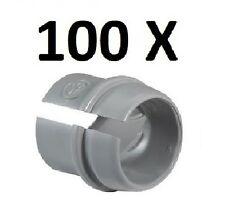 "*PREMIUM QUALITY* SET 100 PACK- RC1 PLASTIC PUSH SNAP-IN ROMEX CONNECTOR 1/2"" KO"
