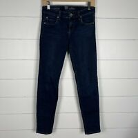 Kut From The Kloth Womens Blue Denim Dark Wash Size 2 Skinny Zipper Fly Jeans