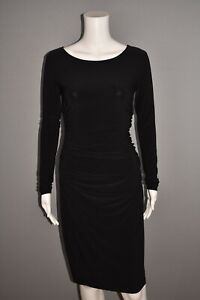 NORMA KAMALI NEW $295 Long Sleeve Jersey Knit Ruched Bodycon Dress Small