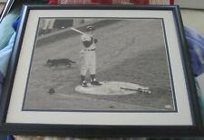 RON SANTO Signed Chicago Cubs BLACK CAT GAME 16 x 20 Black & White Framed Photo