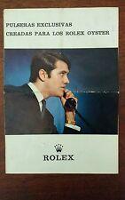 ROLEX Vintage Brochure Prospekt Opuscolo PANAM Folleto 1968  Bracelet SPANISH