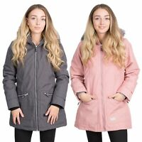Trespass Womens Parka Jacket Waterproof Black Pink Winter Ladies Coat
