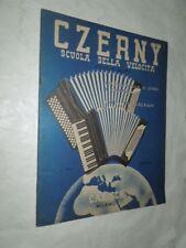 FISARMONICA-CZERNY SCUOLA DELLA VELOCITA' -40 STUDI VOLUME II ANNO 1957-CARISCH