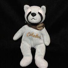 "Cabela's Gray Black Raccoon Bandanna Bean Bag Plush Soft Toy 9"""