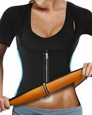 Women Neoprene Bodyshaper Slimming Workout Top for Faster Weight Loss - Black L