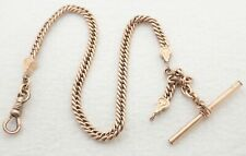"""ANTIQUE 12"""" GOLD FILLED 5MM WIDE POCKET WATCH CHAIN"""