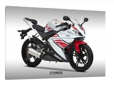 Yamaha YZF-R125 - 30x20 Inch Canvas Framed Picture Print Art