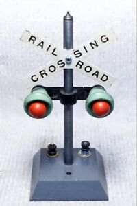 American Flyer S-gauge 760 crossing signal, enhanced separate lights flash, #4