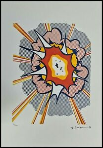 ROY LICHTENSTEIN * Explosion * signed lithograph * limited # 29/150