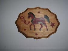 Stenciled Horse Plaque