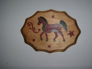 Stenciled Horse Plaque