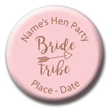 Rose Gold and Pink Bride Tribe Hen Party Badges, Magnet, Mirror Gift 5for4 BB398