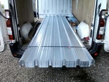 Roofing sheets.boxprofile galvanised steel,14ft lengths £21,each.