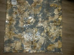 """Pottery Barn Blaise Rain Blue Pillow Cover 22"""" Sq"""