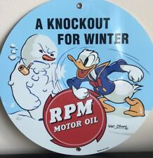 Rpm Oil Gasoline Knockout For Winter Reproduction Advertising Garage Sign