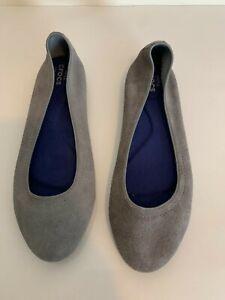 CROCS Triple Comfort Gray Suede Lina Ballet Flats Slip On (203410) Womens Size 7