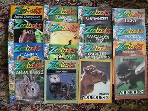 Zoobooks Lot Of 14 Vintage Wildlife Education Home School Teacher Material