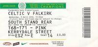 Ticket - Celtic v Falkirk 08.04.09