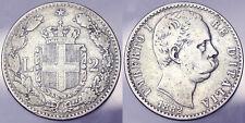 2 Lire 1882 Umberto I Regno d'Italia Italy Argento Silver #5199